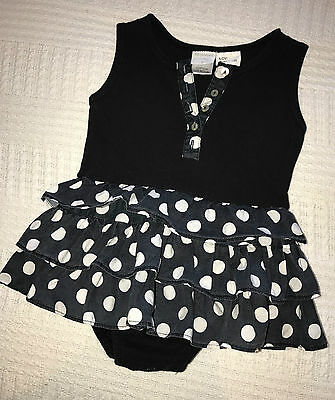 Size 0 super cute baby girls Papoose romper/dress