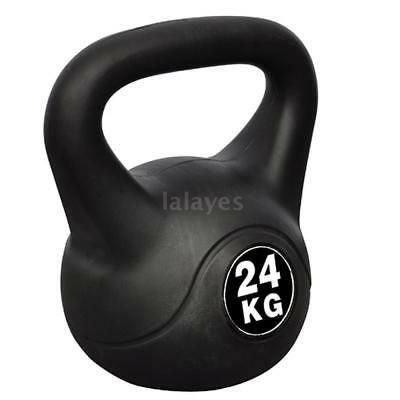 New Kettle Bell 24KG Training Weight FitnHome Gym Kettlebell Dumbbell S4U2