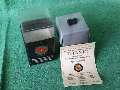 RMS TITANIC COAL Recovered From The Wreck in 1994 - Certificate Of Authenticity
