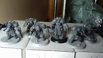 warhammer 40k chaos terminators with chaos lord.