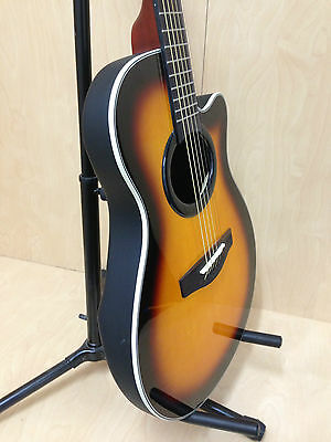 "38"" Caraya C-836BS Round-back Acoustic/Classical Guitar,Fit Steel/Nylon Strings"