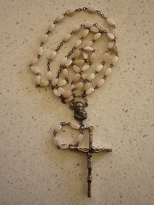 Vintage Pink  Rosary Beads