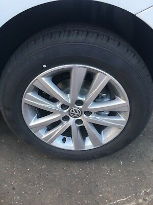 Vw Polo Alloy Wheels And Continental Tyres Genuine 2017 Like New  Aluminium Mags