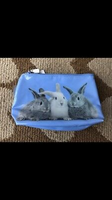 Brand New Small Blue Catseye Bunny Rabbit Cosmetic Bag