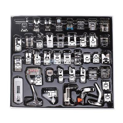 42pcs Domestic Sewing Machine Presser Foot Feet Set for Brother Singer Janome K@