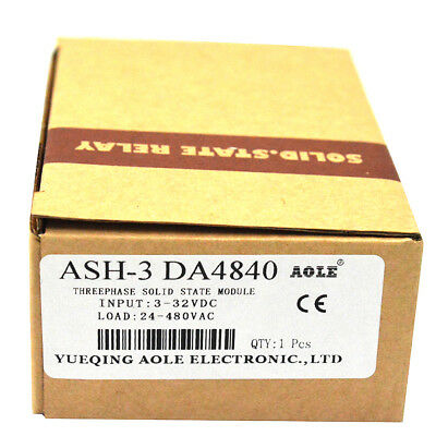 TSR-40DA Three Phase Solid State Relay Module DC to AC 3-32VDC to 480VAC 40A
