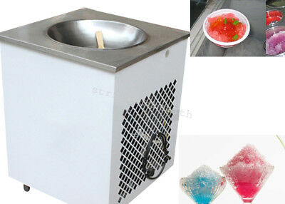 980W Commercial Fried Single round pan ice cream machine 110V/220V durable 50 Hz