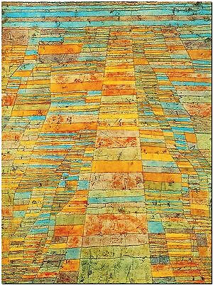 """Highways and byways by Paul Klee - Canvas Print Poster 8X12"""""""