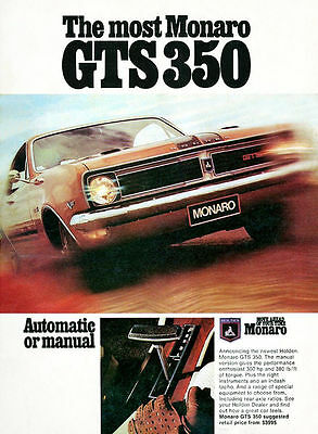 """HOLDEN MONARO - GTS 350 HT - Red Front - Canvas Print Poster 8X12"""""""