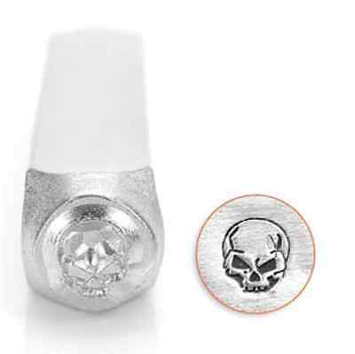 Metal stamp, punch, angry skull  6mm, metal jewellery stamping