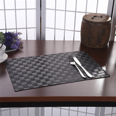 PP Dining Room Weave Woven Placemats Table Heat Insulation Western Place Mats
