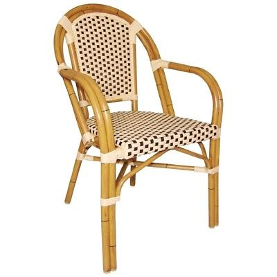 Bolero Continental Bistro Wicker Armchairs (Pack of 4)