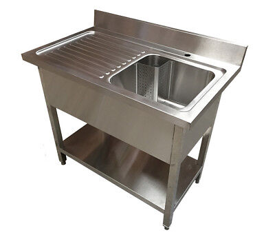 1200 Single Bowl Sink Unit with Left Hand Drainer