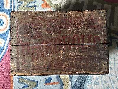 Unusual Pinkabolic Soap box crate Victorian Edwardian - Vintage