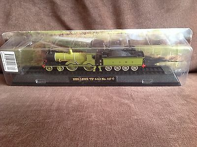 Model train collection 1899 LSWR T9 No 117 on railway display stand