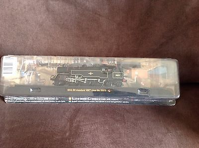 Model train collection 1954 BR Standard class No 80079 on railway display stand