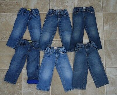 Toddler BOYS Jeans LOT of 6 size 3t Baby GAP Children's Place Cherokee EUC