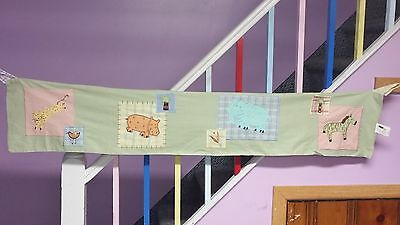 Kids Line Tab Curtain Valance Wild Animals Applique Elephant Zebra Cheetah