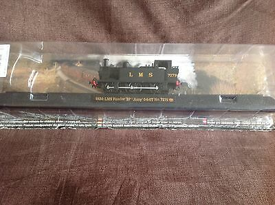 Model train collection 1924 LMS Fowler Jinty No 7279 on railway display stand