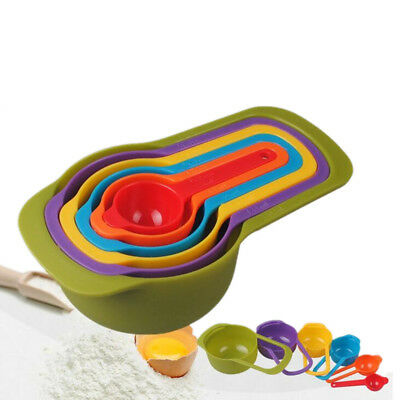 6 pcs Colorful Kitchen Colourworks Measuring Cups Measuring Spoons Spoon Cup