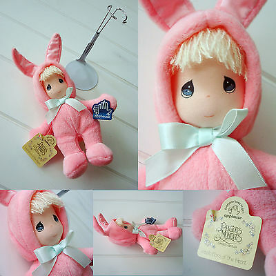 """Applause Inspirations of Heart Precious Moment Pink BUNNY suit PLUSH doll 9.5"""""""