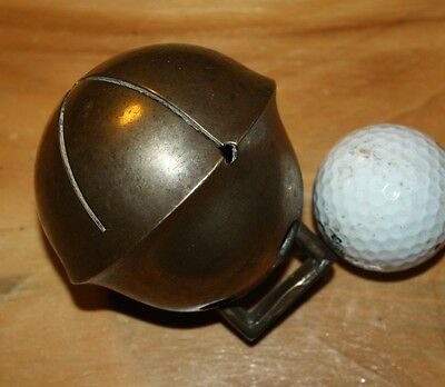 """HUGE  #15  VINTAGE SLEIGH BELL.  THIS IS SOLID BRASS, 3 1/10"""" 79mm    S-17"""
