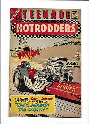 "Teenage Hotrodders #21  [1966 Vg+]  ""race Against The Clock!"""
