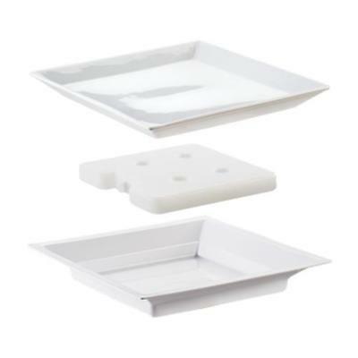 Cal-Mil - 3063 - 11 in White Cold Concept Plate Set