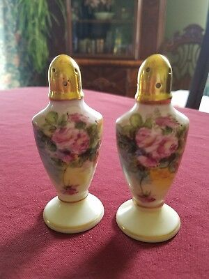 Beautiful Vintage Wesley Hand Painted Salt and Pepper Shakers~Artist Signed