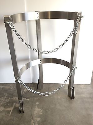SEISMIC Restraint Gas Cylinder Safety Stand Floor Mount Stainless Steel SEATTLE