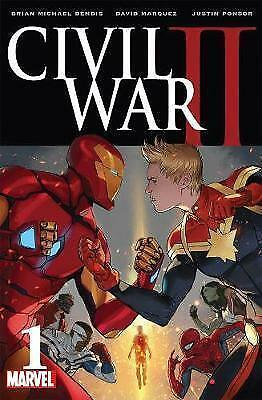 Civil War II #1 Marvel Graphic Novel Book by Brian Michael Bendis (Paperback)