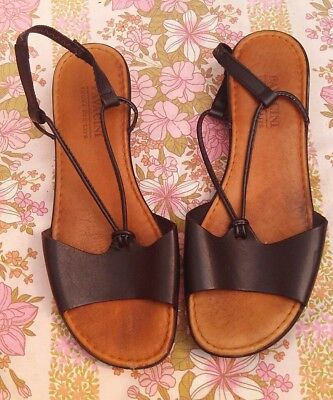 Vintage Pavacini Leather Strappy Sandals Size 41 / 7
