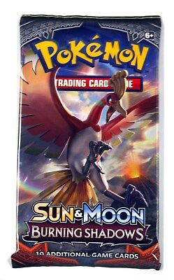 Pokemon TCG Sun & Moon Burning Shadows 1 Sealed booster pack