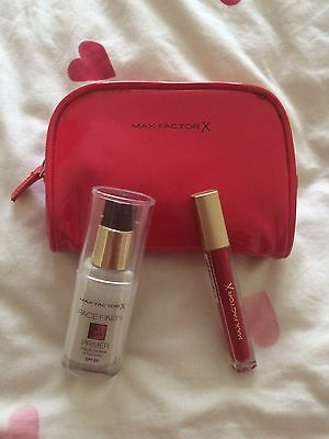 Max Factor Facefinity All Day Primer, Colour Elixir Lip Gloss, Make Up Bag New