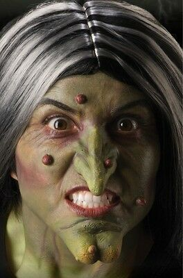 Theatrical FX Witch Set Witch Nose & Chin Latex Prosthetic Costume Accessory