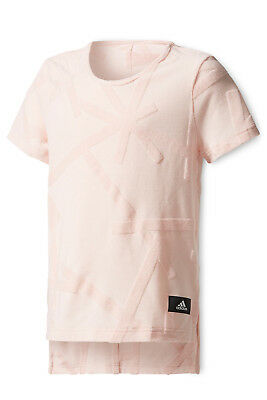 NEW Adidas Young Girls ID Boxy Tee Pink