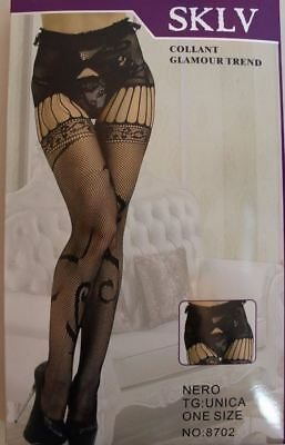 crutchless  Women  Body open crotch Suspender Fishnet Tights Pantyhose  UK