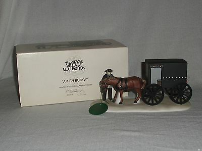 """""""Amish Buggy"""" Dept 56 #5949-8 Heritage Village Collection 1989 Retired NIB"""
