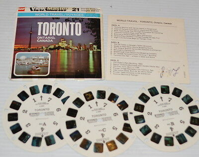- TORONTO Canada VIEW-MASTER Reels with Packet A-035  -
