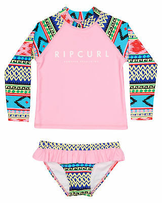 New Rip Curl Surf Girls Tots Girls Nino Rashvest Set Long Sleeve Polyester