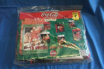 COCA COLA 18 PIECE VALUE PACK Large, Medium, Small Chirstmas bags