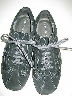 Naturalizer Women's Black Leather & Suede Casual Oxford Shoes Size 8M