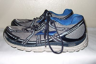 BROOKS Addiction Men's Blue/Black/Silver Running Shoes Size 11.5 B