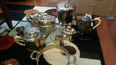 Vintage Sterling Silver plated tea pots and Ice bucket