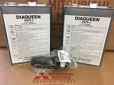 Mitsubishi DiaQueen SST GENUINE OEM EVO Transmission Fluid 2 Gallons AND Filter