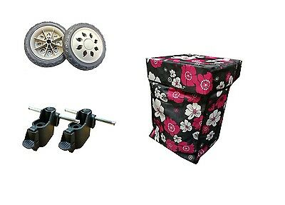 Replacement & Spare Shopping Trolley / Wheels / Bags /  Double axle fittings