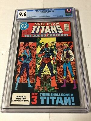 Tales Of The New Teen Titans 44 Cgc 9.6 White Pages 1st NightWing