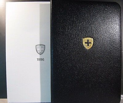 1996 Switzerland 8 Coin Proof Set Booklet Display Case   **FREE U.S. SHIPPING**