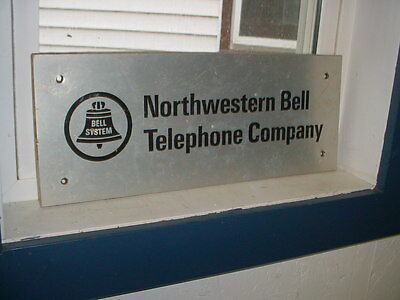 """Vintage Northwestern Bell Telephone Company Bell System  Sign 20"""" By 8"""""""