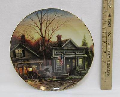 Terry Redlin Plate Office Hours Wild Wings National Bank Horse & Carriage